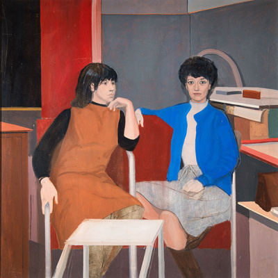 Larry Day. Portrait of Natalie Charkov and Mitzi Melnikoff