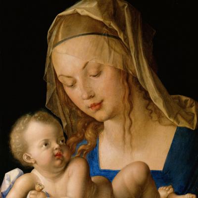 Богородица и ребенок с грушей