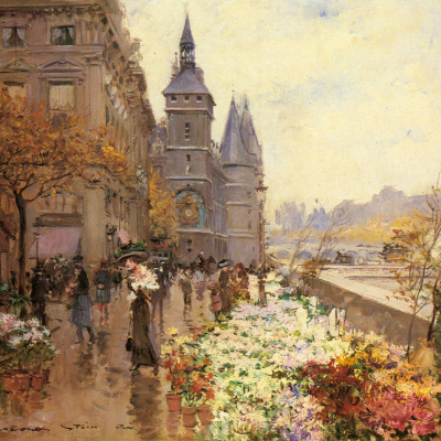 Цветочный рынок вдоль Сены