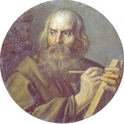 Alexander Grigorievich Varnek. Evangelist Luke. Near the State Russian Museum, St. Petersburg