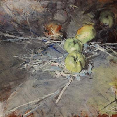 Still life with apples Calvil
