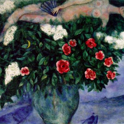 Женщина и розы