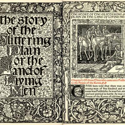 Kelmscott-press. The story of the shining valley