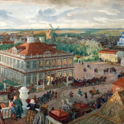 В Немецкой слободе. Отъезд царя Петра І из дома Лефорта