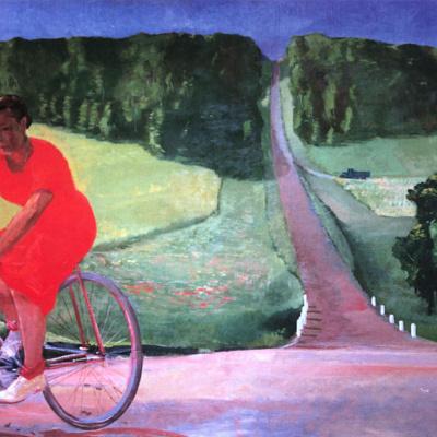 Колхозница на велосипеде