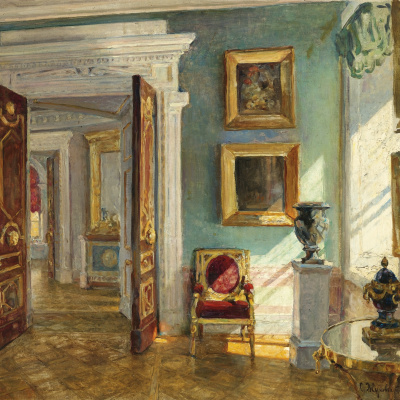 The interior of the picture gallery, Pavlovsk