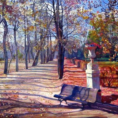 Park in the autumn