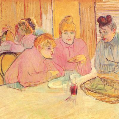 Im Speisesaal des Bordells