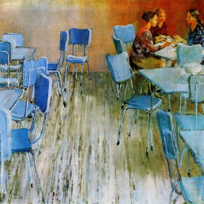 Юрий Иванович Пименов. Тихое кафе. 1971
