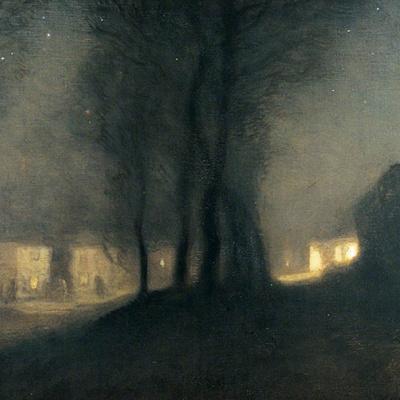 Деревня в ночи