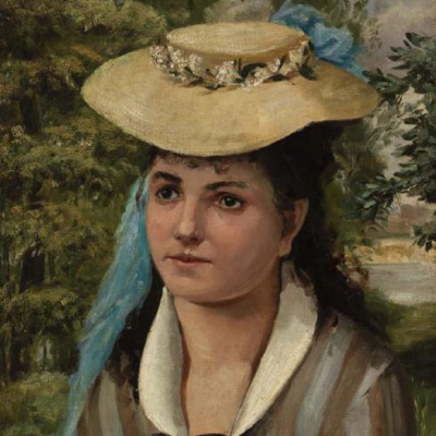Lise in a straw hat (Girl in straw hat)