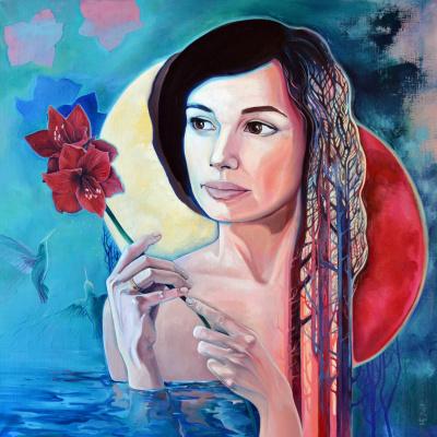 Nadezhda Sergeevna Begunova. Portrait of Julia