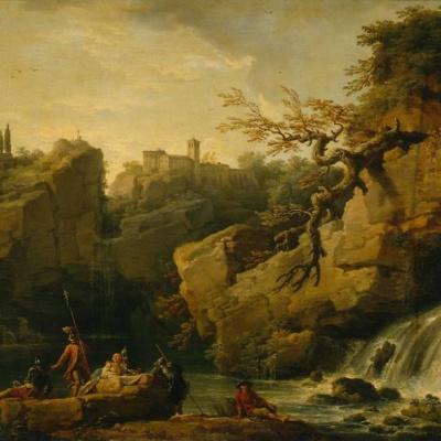 Романтический пейзаж (пейзаж в стиле Сальватора Розы)