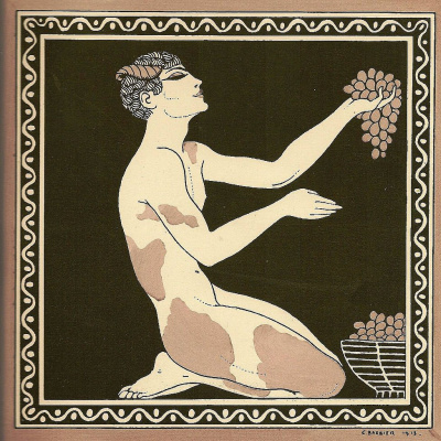 Georges Barbier. Nijinsky. Faun with grapes
