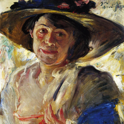 The lady in the pink hat. Portrait Of Charlotte Berend-Corinth