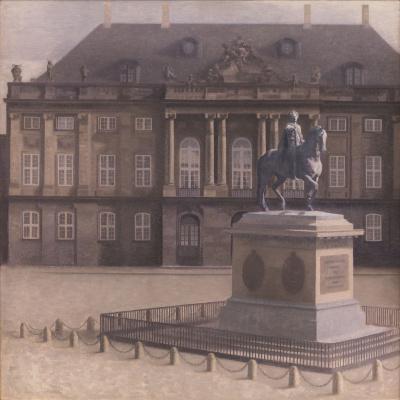 Vilhelm Hammershøi. Amalienborg Square, Copenhagen