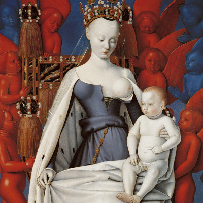 The Madonna and Child. Right wing of the Melun Diptych