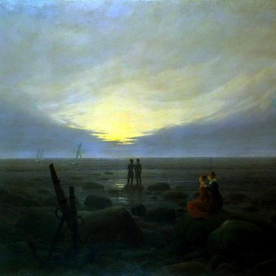 Moonrise on the sea