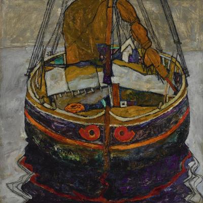 Эгон Шиле. Рыбацкая лодка в Триесте