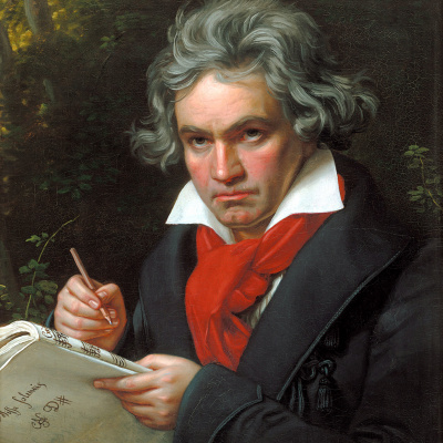 Portrait of Ludwig van Beethoven