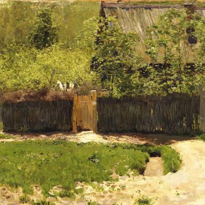 Первая зелень. Май. Увеличенное повторение этюда 1883 года