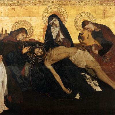 The Lamentation Of Christ. Pieta of Villeneuve-Les-Avignon