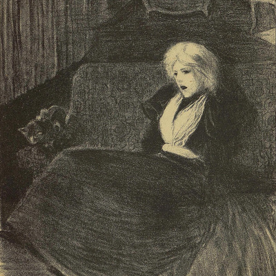 """To the """"Fragile song."""" Illustration to the book by P. Delmas, """"Female songs"""""""