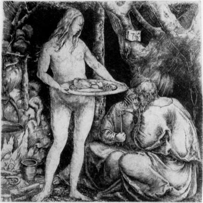 Albrecht Altdorfer. The temptation of the hermit
