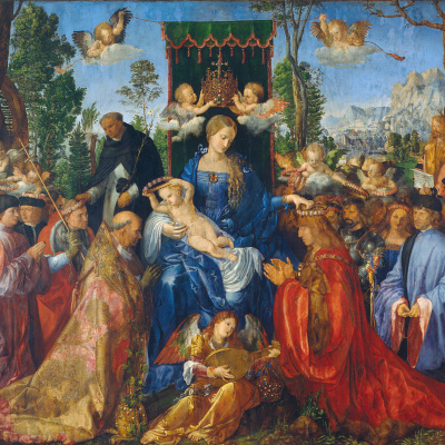 The feast of the rosary (feast of the rose garlands)
