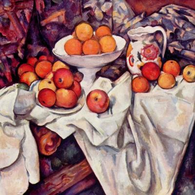 Натюрморт с яблоками и апельсинами