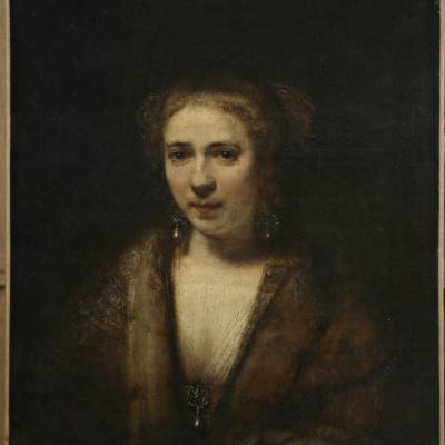 Portrait of Hendrickje Stoffels in velvet beret
