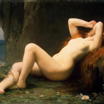 Mary Magdalene in the grotto. 1876