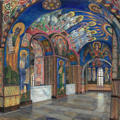 Oleg Mikhailovich Litvinenko. The central part of the choir of the Cyril Church, Kiev