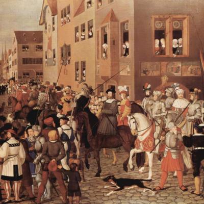 Въезд императора Рудольфа Габсбурга Базель в 1273 г.