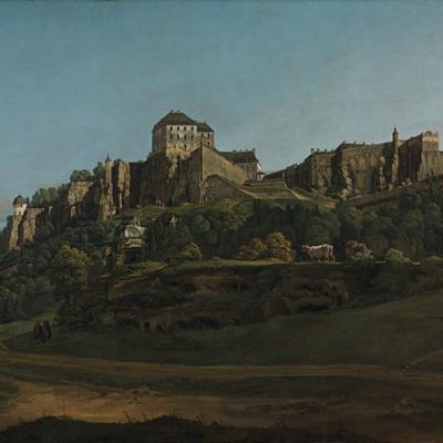 Крепость Кёнигштайн с севера