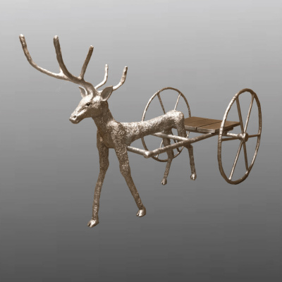 "(no name). The sculpture ""deer harness"""