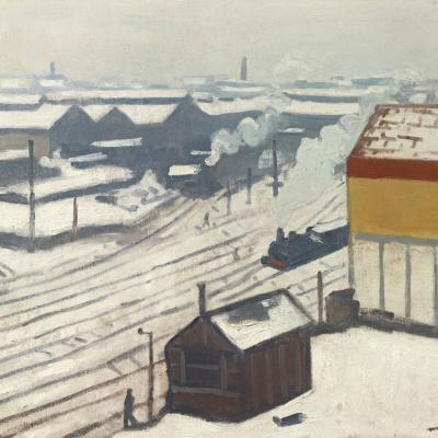 Железнодорожный вокзал Монпарнас под снегом