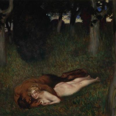 Фавн и нимфа. 1892