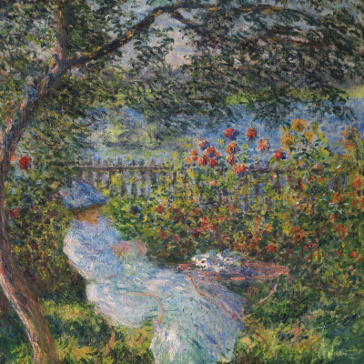 Alice Hoschedé  in the garden