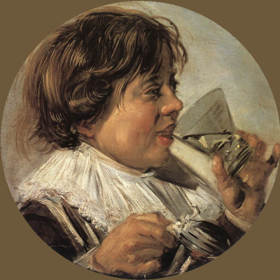 Frans Hals. Drinking boy. Allegory of taste