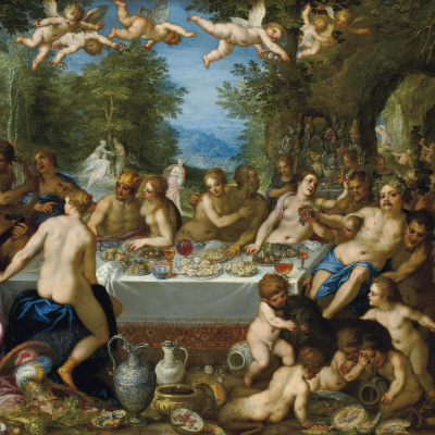 Feast of the gods, the wedding of Bacchus and Ariadne. (joint with Hans Rottenhammer) About 1602
