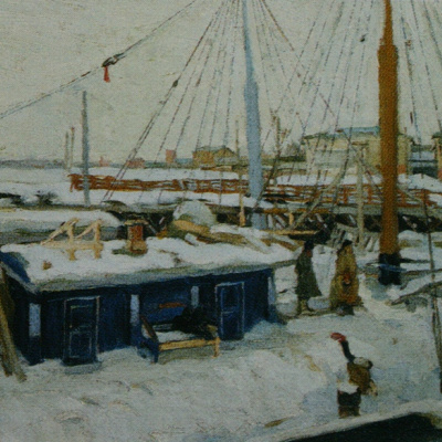 Winter barges. 1902