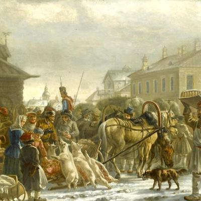 Petersburg Hay Square. 1820