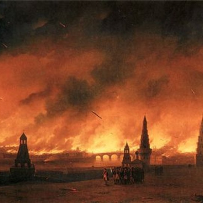 The great Moscow fire of 1812