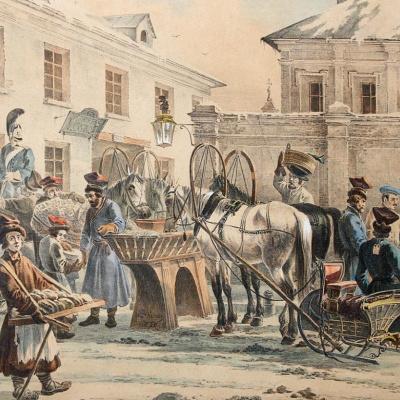 Извозчичья биржа в С. Петербурге