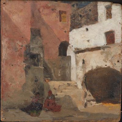 Giovanni Giacometti. Naples. Sunny patio