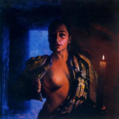Альберто Донэр. Женщина со свечей