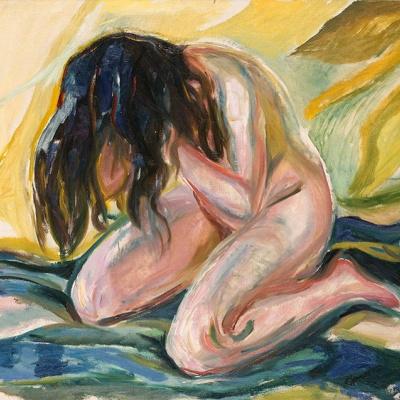 Nude on knees