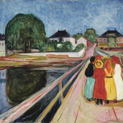 Girls on a bridge