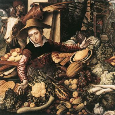 Питер Артсен. Продавщица с овощами